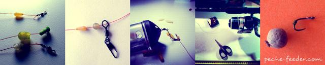 montage feeder - montage pour la peche au feeder